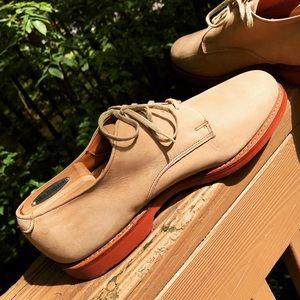 Allen Edmonds Orlean Tan Suede Derby Shoes size 10